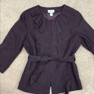 Loft burgundy blazer.  Size 12.